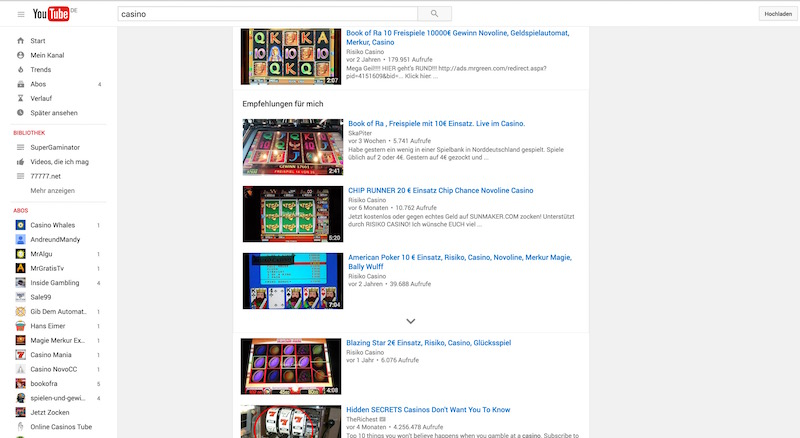 Casino youtube video