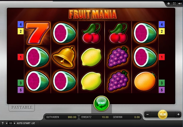 Fruit Mania App Bally Wulff