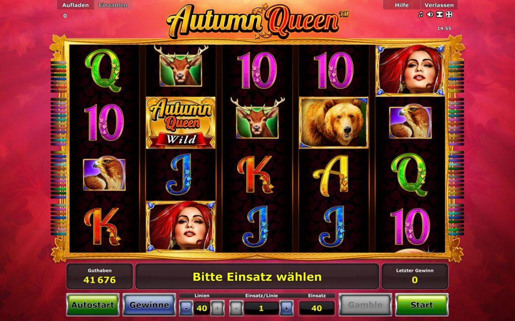 Autumn Queen NovoLine Spielautomat auf 40 Punkten Einsatz