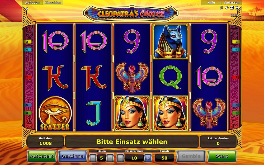 Cleopatra Slotmaschinen kostenlos oder Echtgeld