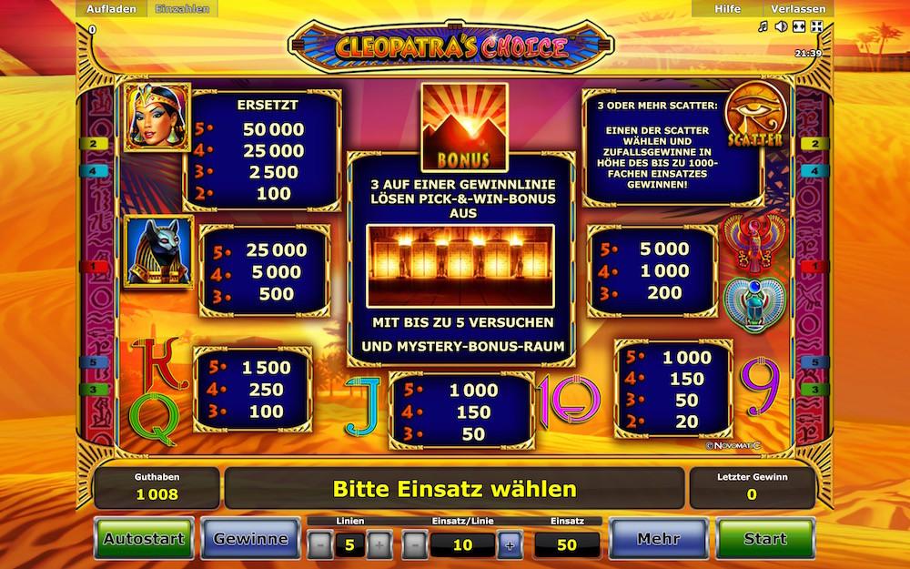 cleopatras choice