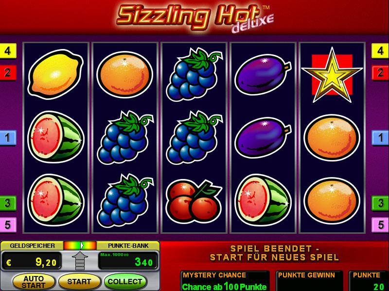Sizzling Hot 2€ 5 Siebener