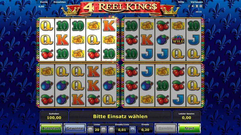 4 Reel Kings Novoline Walzen