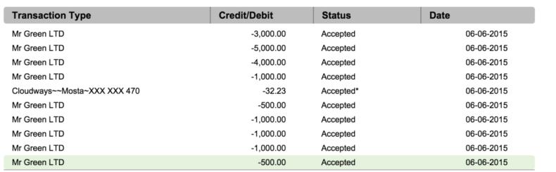 mr green casino 18000 euro Verlust