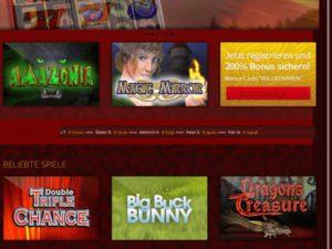 Merkur Spielcasino Startseite auf dem Smartphone