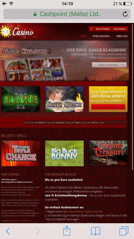 Online Spielcasino Merkur