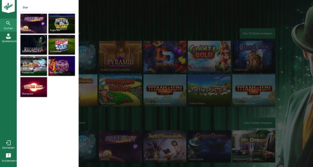 MrGreen Casino Spiele-Suche