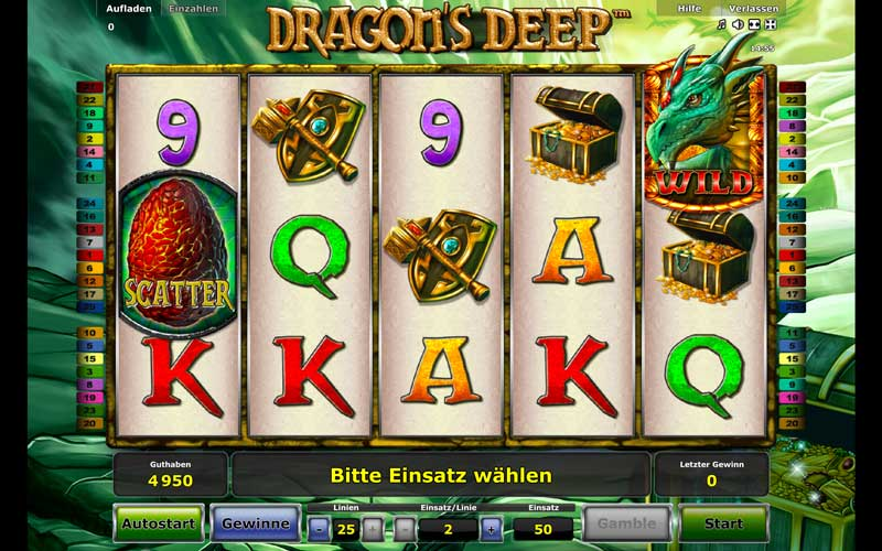 dragons deep spielen