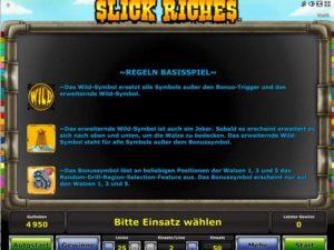 Slick-Riches-Regeln