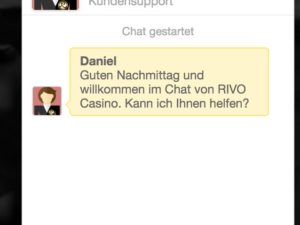 Rivo Casino Live Chat Kundenservice