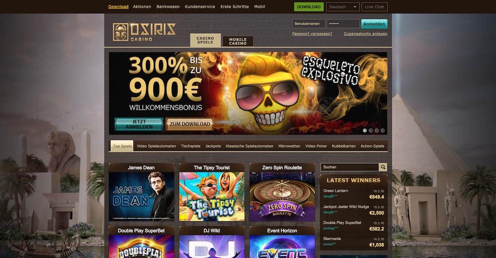Online Casino - Casino Bonus - Casino Spiele, Spielen Online Casino Osiris. - Tingchhooslierock