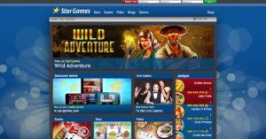 Die alte StarGames Webseite