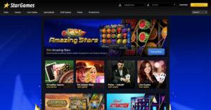 Aktualisierte neue StarGames Webseite