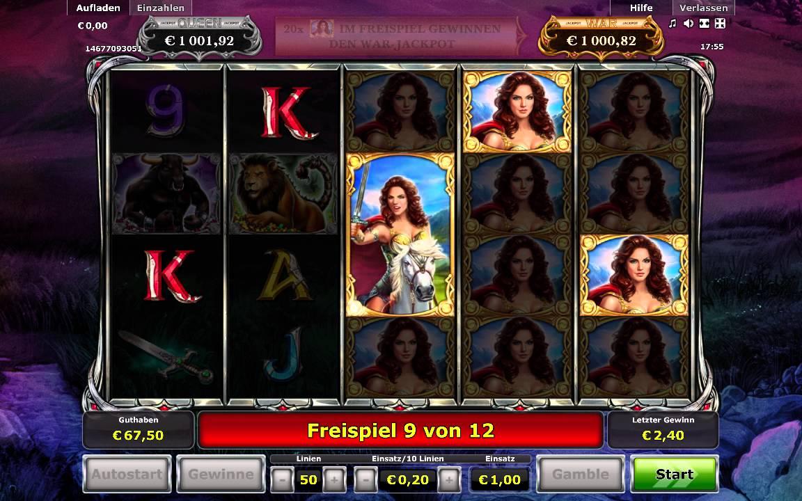 Zenia Queen of War Slots - Play Online for Free Now