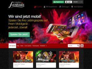 Casino Fantasia - Der Fokus liegt hier auf Übersichtlichkeit