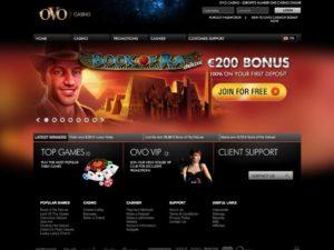 Ovo Casino - Zwar viele Spiele aber insgesamt nicht überzeugend