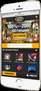 Casino Cruise mobil auf dem Smartphone