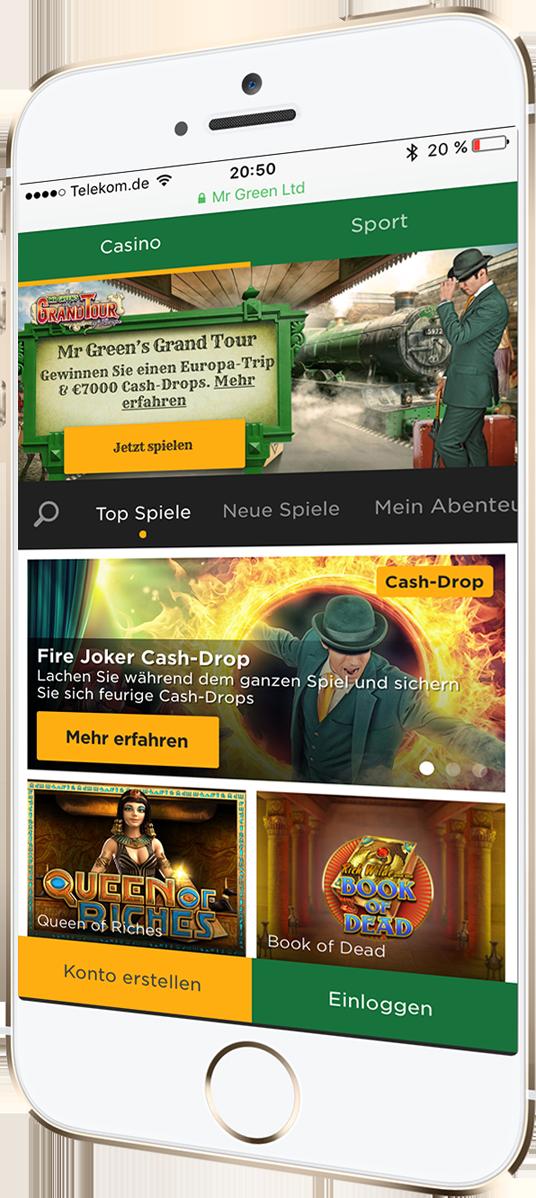 Mr Greens Android App wartet nur auf Sie