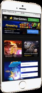 StarGames mobil auf dem Smartphone
