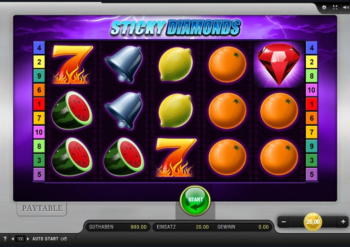 Sticky Diamonds App Bally Wulff
