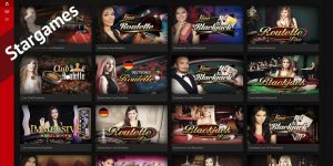 Vollwertiges Spielangebot im Stargames Live Casino